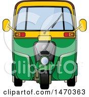 Yellow And Green Tuk Tuk Auto Rickshaw