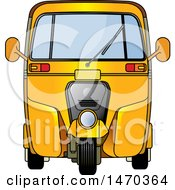 Clipart Of A Yellow Tuk Tuk Auto Rickshaw Royalty Free Vector Illustration