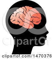 Clipart Of A Profiled Head With A Visible Brain Royalty Free Vector Illustration by Lal Perera