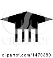 Clipart Of A Black And White Graduation Cap Royalty Free Vector Illustration