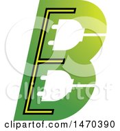 Clipart Of A Green Letter B Design Royalty Free Vector Illustration by Lal Perera