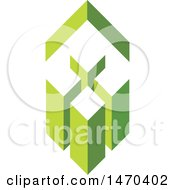 Clipart Of A Green Roof Over Buildings Royalty Free Vector Illustration by Lal Perera