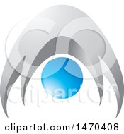 Clipart Of A Silver And Blue Abstract People Or Person Bending Over Royalty Free Vector Illustration by Lal Perera