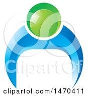 Clipart Of A Blue And Green Person Doing Push Ups Royalty Free Vector Illustration by Lal Perera