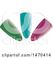 Clipart Of Colorful Finger Nails Royalty Free Vector Illustration