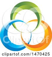 Clipart Of A Design Of Colorful Rings Royalty Free Vector Illustration by Lal Perera