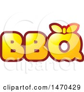 Clipart Of A Red And Yellow BBQ Design With An Apple Royalty Free Vector Illustration by Lal Perera