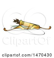 Clipart Of A Bow And Arrows Royalty Free Vector Illustration by Lal Perera
