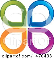 Clipart Of A Colorful Drops Design Royalty Free Vector Illustration by Lal Perera