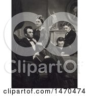 Historical Illustration Of Abraham Lincoln Mary Todd And Thomas And Robert Todd At Home by JVPD