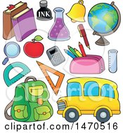 Poster, Art Print Of School Items