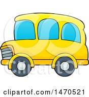 Clipart Of A Yellow School Bus Royalty Free Vector Illustration by visekart