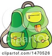 Poster, Art Print Of Green Backpack