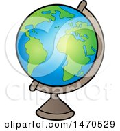 Clipart Of A Desk Globe Royalty Free Vector Illustration by visekart
