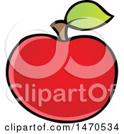 Clipart Of A Red Apple Royalty Free Vector Illustration