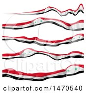 Clipart Of Syrian Flag Ribbon Banners Royalty Free Vector Illustration