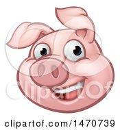 Happy Pig Mascot