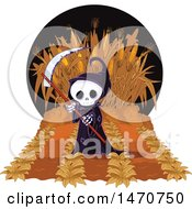 Clipart Of A Grim Reaper In A Maze Royalty Free Vector Illustration by Pushkin