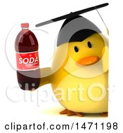 Clipart Of A 3d Chubby Yellow Bird Graduate On A White Background Royalty Free Illustration