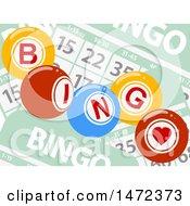 Bingo Balls Over Cards