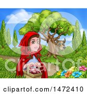 Wolf Stalking Little Red Riding Hood