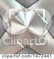 Clipart Of A Brushed Metal Cross Royalty Free Illustration