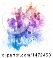 Clipart Of A Colorful Watercolor Splatter On White Royalty Free Vector Illustration