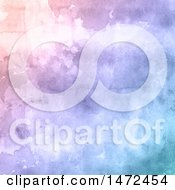 Clipart Of A Pink Purple And Blue Watercolor Background Royalty Free Vector Illustration