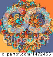 Clipart Of A Colorful Mandala Royalty Free Vector Illustration