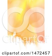 Clipart Of A Yellow And Orange Watercolor Background Royalty Free Vector Illustration