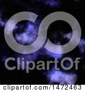 Clipart Of A Purple Nebula Night Sky Royalty Free Illustration