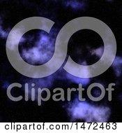 Poster, Art Print Of Purple Nebula Night Sky