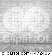 3d Whitewash Brick Wall And Floor