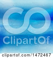 Clipart Of A Blue Watercolor And Connections Background Royalty Free Vector Illustration