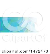 Clipart Of A Geometric Low Polygon Banner Royalty Free Vector Illustration
