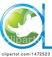 Clipart Of A Rhinoceros Head In An Abstract Design Royalty Free Vector Illustration by Lal Perera