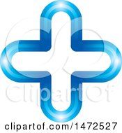 Clipart Of A Blue Cross Design Royalty Free Vector Illustration