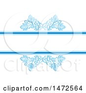 Poster, Art Print Of Blue Floral Border With Text Space