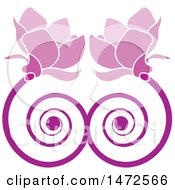 Clipart Of A Doubple Pink Spiral Flower Design Royalty Free Vector Illustration by Lal Perera