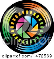Clipart Of A Shutter Aperture Design Royalty Free Vector Illustration by Lal Perera