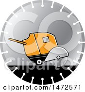 Clipart Of A Concrete Cutter On A Saw Blade Royalty Free Vector Illustration by Lal Perera