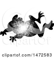 Clipart Of A Leaping Frog In Halftone Dots Royalty Free Vector Illustration by Lal Perera