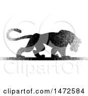 Clipart Of A Panther In Halftone Dots Royalty Free Vector Illustration by Lal Perera