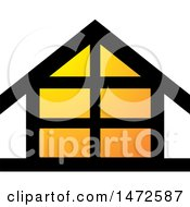 Clipart Of A House Icon Royalty Free Vector Illustration by Lal Perera