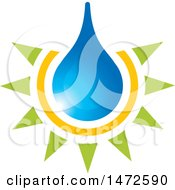 Clipart Of A Glowing Water Drop Royalty Free Vector Illustration by Lal Perera