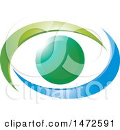 Clipart Of A Gradient Abstract Eye Royalty Free Vector Illustration by Lal Perera