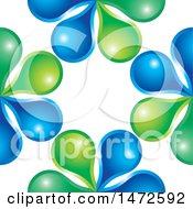 Clipart Of A Green And Blue Droplet Design Royalty Free Vector Illustration by Lal Perera