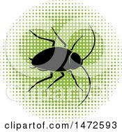 Cockroach In A Green Halftone Circle