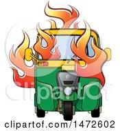 Flaming Tuk Tuk Auto Rickshaw