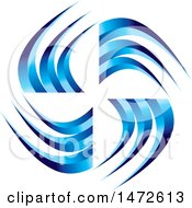 Clipart Of A Blue Swoosh Design Royalty Free Vector Illustration by Lal Perera